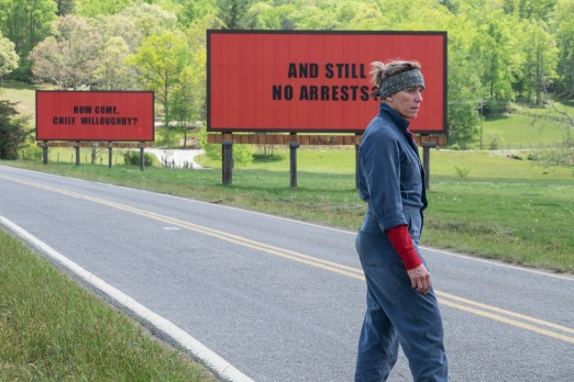 """Frances McDormand as """"Mildred Hayes"""" in THREE BILLBOARDS OUTSIDE EBBING, MISSOURI. Photo by Merrick Morton, courtesy of Fox Searchlight Pictures."""